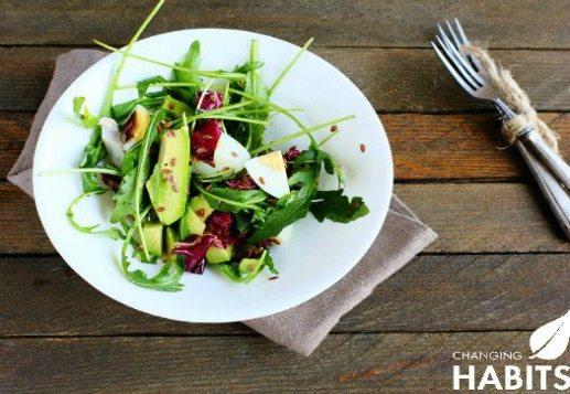 Kraut, Rocket & Avocado Salad