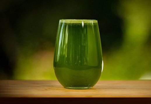 Beautifully nourishing green juice