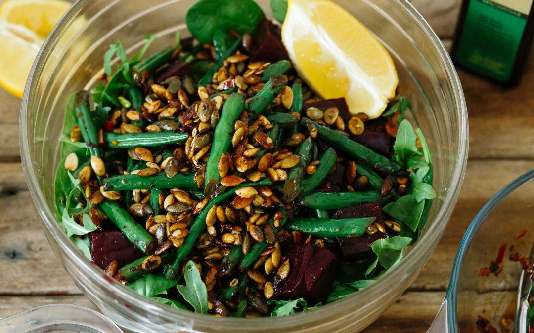 Beetroot, Garlic and Chilli Bean Salad