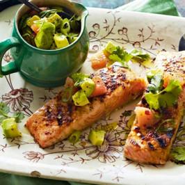 Chargrilled Salmon on Sweet Potato