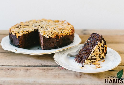 Chocolate Almond Fruit Cake