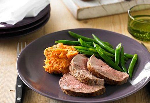 Glazed Lamb with Sweet Potato Mash