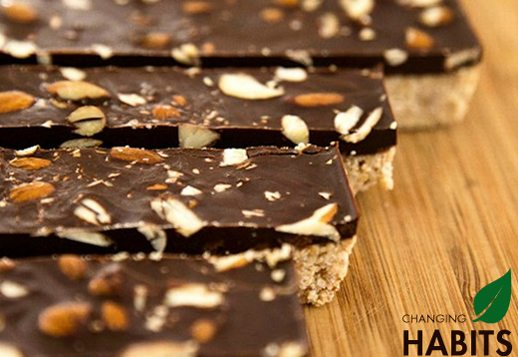 Inca Inchi Protein Bars topped with Cacao