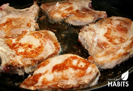 Namibian Caramelised Onions with Pork Chops