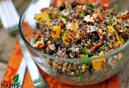 Nutty Quinoa Rice Salad