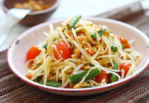 Pickled Green Papaya Salad