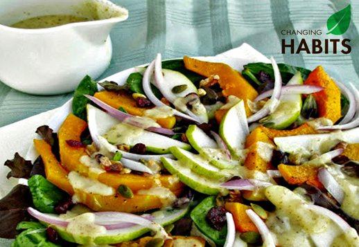 Pumpkin, Pear and Nut Salad