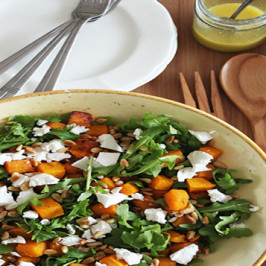 Roast Pumpkin, Avocado and Fetta Salad