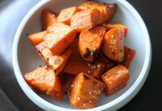 Roasted Sweet Potato in Coconut Orange Sauce