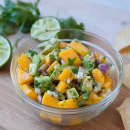 Sweet Summer Mango Avocado Salsa
