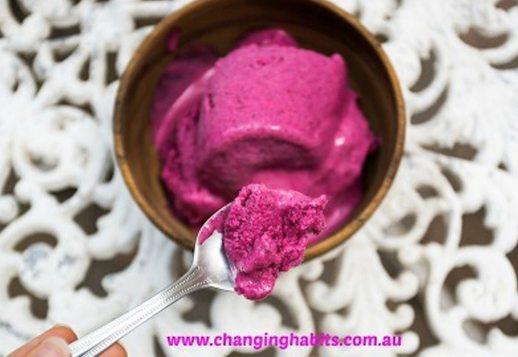 Vanilla and Dragon Fruit Ice-Cream