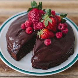 Chocolate Cinnamon Chia Cake