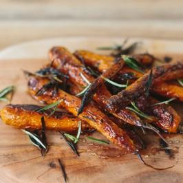 Roasted Rosemary and Honey Carrots