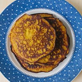 Turmeric Pumpkin Pancakes (Sweet or Savoury)