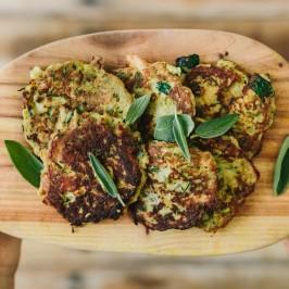 Chicken, Sage & Zucchini Fritters