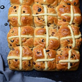 Emmer Wheat Hot Cross Buns