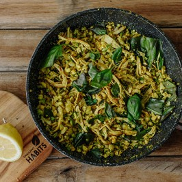 Lemon, Basil and Chicken 'Faux' Fried Rice