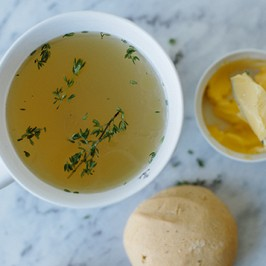 Lemon and Thyme Chicken Broth