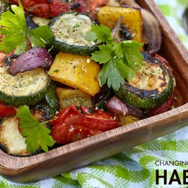 Roasted Veggie & Herb Salad