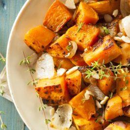 Roasted Garlic Sweet Potato & Herbs
