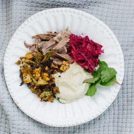 Tandoori Spiced Cauliflower & Pulled Chilli Beef Bowl