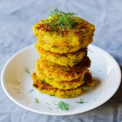 Turmeric & Quinoa Cheesy Fritters