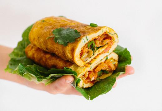 Breakfast Omelette Wrap