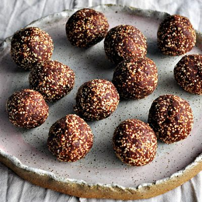 Chocolate Crackle Bliss Balls