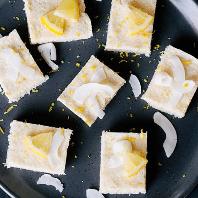 Lemon Macadamia Slice