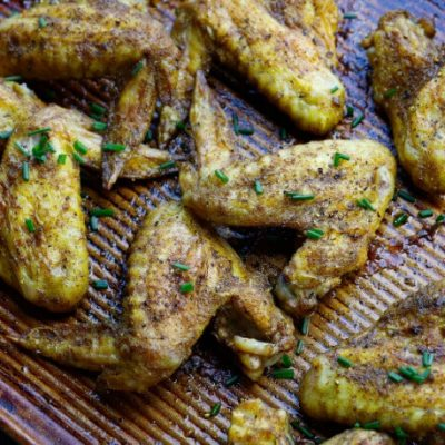 Crispy Curried Chicken Wings