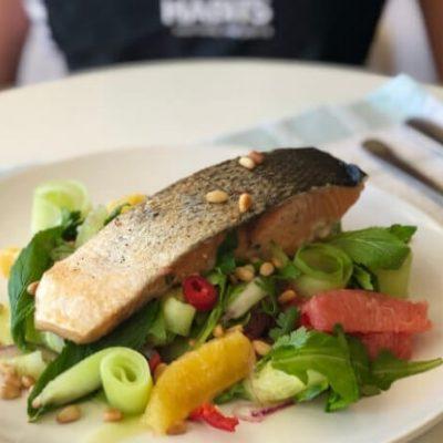Crispy Skinned Salmon & Citrus Salad