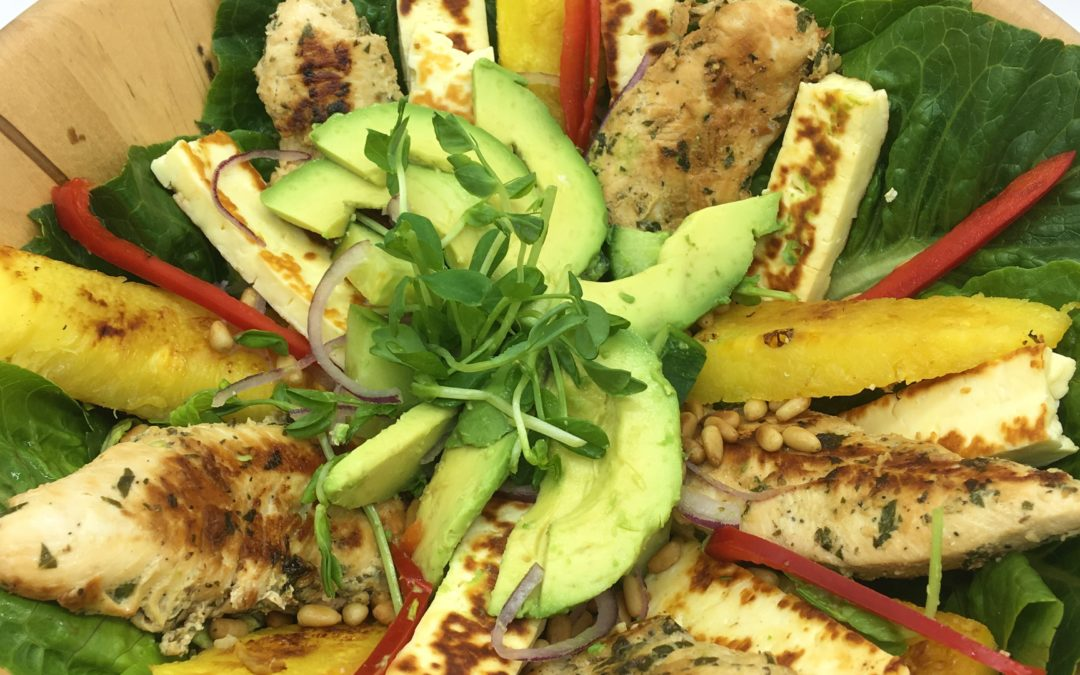 Marinated Chicken and Grilled Pineapple Salad