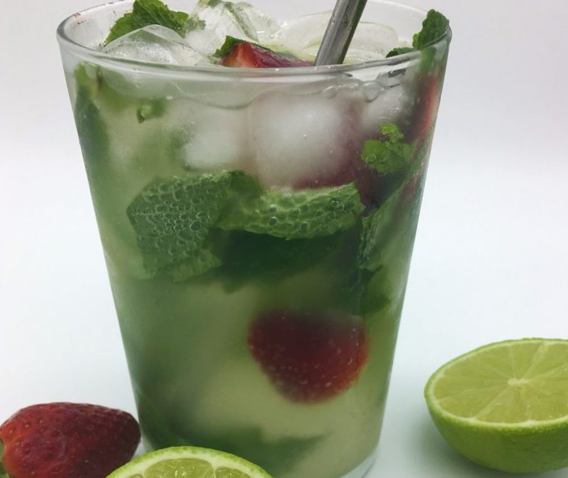 Virgin Lime, mint and strawberry mojito