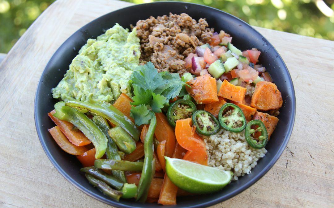 Beef and Quinoa Burrito Bowl