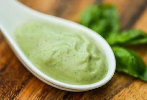 Basil, mayonnaise
